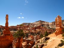 Bryce Canyon along Queens garden trail Royalty Free Stock Photography