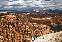 Bryce Canyon Amphitheater. This is a view of the Bryce Canyon Amphitheater stock photography