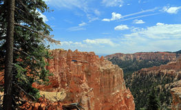 Bryce Canyon with blue sky and clouds. Stock Images