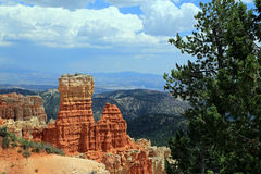 Bryce Canyon with blue sky and clouds. Royalty Free Stock Image