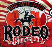 Bryce Canyon Country, Rodeo Rubys-Gasthaus stock abbildung