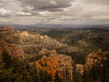 Bryce Canyon Dark Cloudy Day. Bryce Canyon southwestern Utah is one of the most beautiful National Parks in the Southwest Stock Image