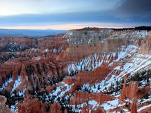 Bryce Canyon at dusk Stock Photography