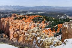 Bryce Canyon Erosion Formations, szenische Landschaft in Utah Stockfotos