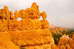 Bryce Canyon eyes on the world. Bryce Canyon rock formations, Utah USA Stock Photos