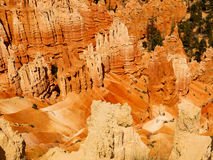 Bryce Canyon Faces of The Legend People. Crimson-colored hoodoos, called the Legend People by the Indians.  They claim the Coyote Spirit turned  the bad people Royalty Free Stock Image
