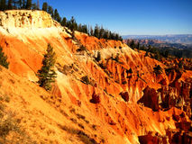 Bryce Canyon geological strata. View of sedimentary rock strata in Bryce Canyon National Park Utah, USAn Stock Photography