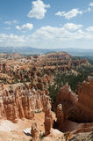 Bryce Canyon Hoodoos with Cloudy Sky Landscape Stock Photography