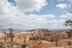 Bryce Canyon Hoodoos Desert Landscape. Bryce Canyon National Park Hoodoos desert vista with clouds in Utah Stock Images
