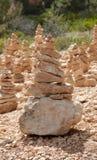 Bryce Canyon Hoodoos Zen Garden som balanserar stenar Arkivbilder