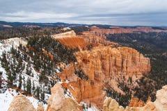 Bryce Canyon im Winter Lizenzfreie Stockfotos