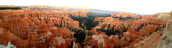 Bryce Canyon inspiration point panorama Royalty Free Stock Photography