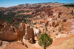 Bryce Canyon Landscape beatiful colors. Shot on a Trip to the Bryce Canyon National Park, with a Nikon D750 stock image