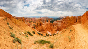 Bryce Canyon landscape from the top of mountain Royalty Free Stock Image