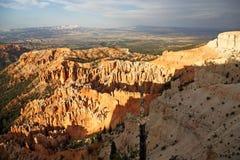 Bryce Canyon-Landschaft bei Sonnenuntergang Lizenzfreie Stockfotos