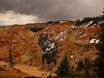 Bryce Canyon Last Snow. The Spring snow has almost melted Royalty Free Stock Photography