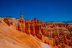 Bryce Canyon National Park à la traînée de boucle de Navajo, Utah images libres de droits