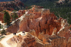 Bryce Canyon National Park. Backpackers in Bryce Canyon National Park - Utah stock photography