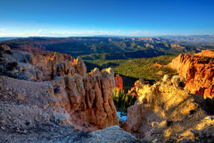 Bryce Canyon National Park. View of Bryce Canyon National Park from it's highest elevation - Rainbow Point Royalty Free Stock Photo