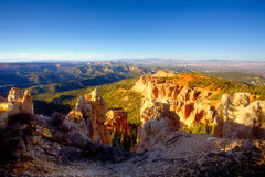 Bryce Canyon National Park. View of Bryce Canyon National Park from it's highest elevation - Rainbow Point Stock Photo