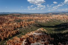 Bryce Canyon National Park. View of the fantastical colours and formations of the Bryce Canyon National Park Stock Photos