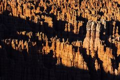 Bryce Canyon National Park. Aerial view of rocky landscape of Bryce Canyon National Park, Utah, US Stock Image