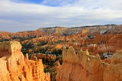 Bryce Canyon National Park avec la neige, Utah, Etats-Unis Photos stock