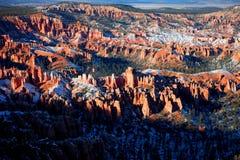 Bryce Canyon National Park coberto de neve Fotografia de Stock