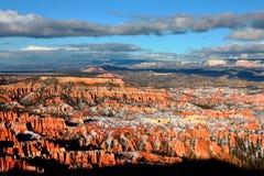 Bryce Canyon National Park coberto de neve Fotos de Stock