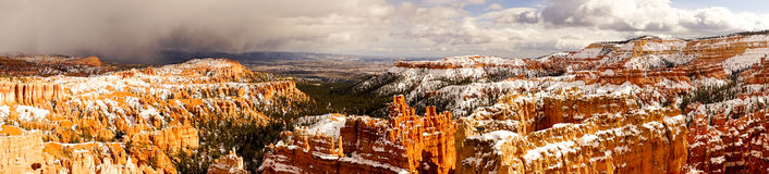 Bryce Canyon National Park Fresh Snow Winter Overlook Stock Image