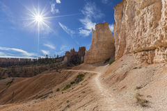 Bryce Canyon National Park Hiking-Spur Lizenzfreies Stockbild