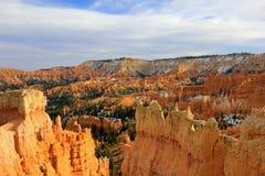 Bryce Canyon National Park met sneeuw, Utah, Verenigde Staten Stock Foto's