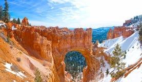 Bryce Canyon National Park nell'inverno Fotografie Stock Libere da Diritti