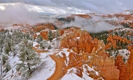 Bryce Canyon National Park no inverno, Utá Imagem de Stock