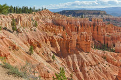 The Bryce Canyon National Park. A panoramic view of the Bryce Canyon National Park in Utah Royalty Free Stock Photos