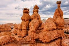 Bryce Canyon National Park, paysage des sommets roses et oranges érodés Image stock