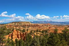 Bryce Canyon National Park. Scenery in Bryce Canyon National Park, Utah with typical geological rock formations also called hoodoos Stock Image