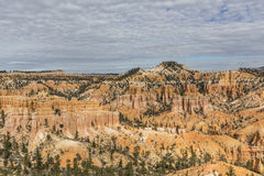 Bryce Canyon National Park Scenic View with Clouds Royalty Free Stock Photos