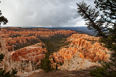 Bryce Canyon National Park - Snow Storm At Sunset, United States Of America Stock Images