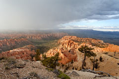 Bryce Canyon National Park - snow storm at sunset, United States of America royalty free stock images