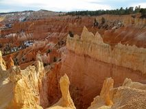 Bryce Canyon National Park with snow, Utah, United States. USA royalty free stock photography