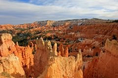 Bryce Canyon National Park with snow, Utah, United States. USA royalty free stock photos