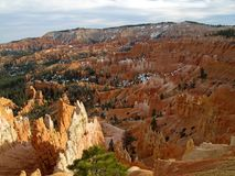 Bryce Canyon National Park with snow, Utah, United States. USA Royalty Free Stock Image