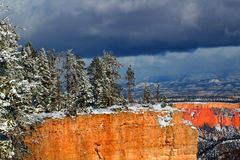 Bryce Canyon National Park Snowfall Stock Image