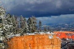Bryce Canyon National Park Snowfall Stock Image