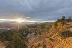 Bryce Canyon National Park Sunrise-Puntmening Stock Foto