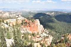 Bryce Canyon National Park in Utah. Fairview Point at Bryce Canyon National Park in Utah Royalty Free Stock Photography