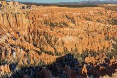 Bryce Canyon National Park Utah i vinter Arkivbild