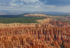 Panoramic View of Bryce Canyon Amphitheater royalty free stock images