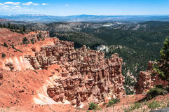 Bryce Canyon National Park, Utah. View of Bryce Canyon National Park from Ponderosa Point, Utah Royalty Free Stock Photos